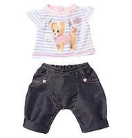 Одежда для кукол Беби Борн комплект одежды со звуками собачка Baby Born Zapf Creation 817612, фото 1