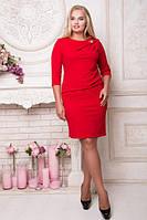 Коктейльное женское платье с брошкой 50-60рр.