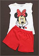 Пижама летняя для девочек на 2, 4 и 6 лет