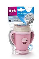 Кружка с ручками Lovi Mini-Retro розовая 250 мл.