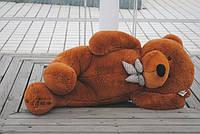 Плюшевая игрушка медведь, мишка 160 см, коричневый