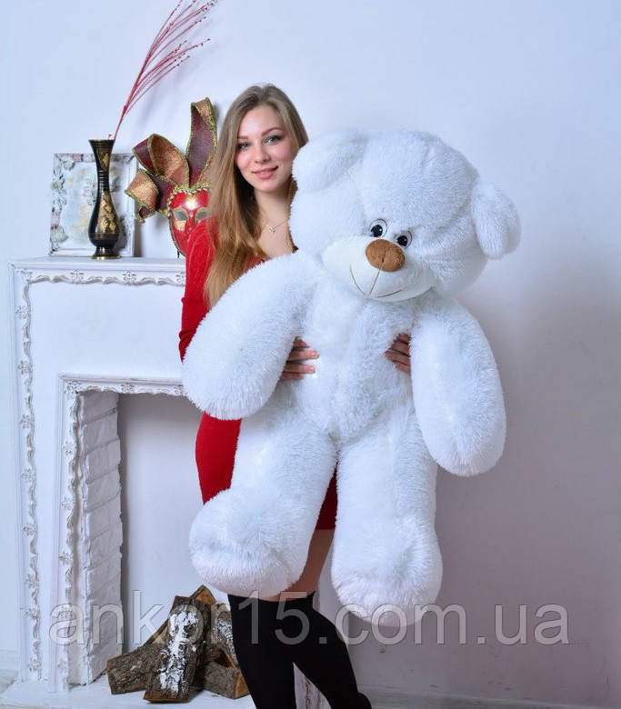 Плюшевая игрушка медведь, мишка 110 см, белый