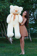 Плюшевая игрушка медведь, мишка 120 см, кремовый.