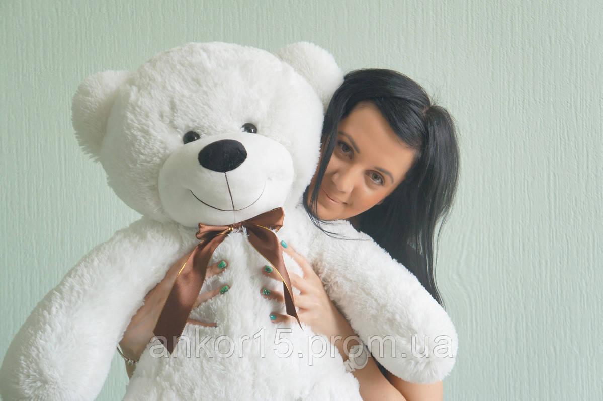 Плюшевая игрушка медведь, мишка 120 см, белый.