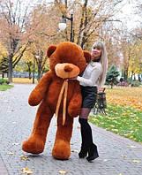 Плюшевая игрушка медведь, мишка 140 см, коричневый.