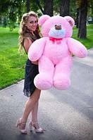 Плюшевая игрушка медведь, мишка 110 см, розовый