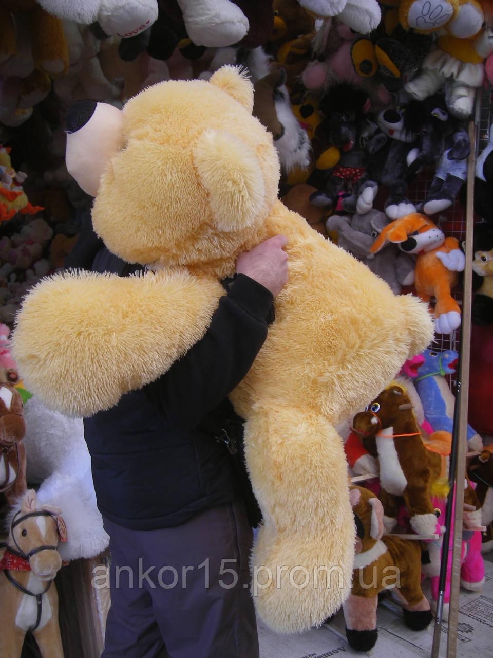 Плюшевая игрушка медведь, мишка 130 см, кремовый