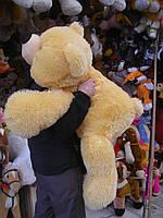 Плюшевая игрушка медведь, мишка 130 см, кремовый, фото 1