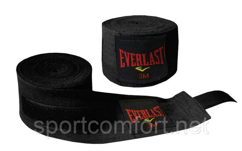 Бинты для бокса Everlast 3 м х/б (не тянущиеся) реплика