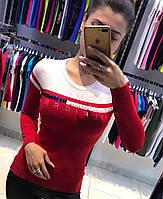 Красная женская кофта Th 85