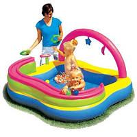 Детский надувной игровой центр BestWay 52125 c горкой для 6 шариков (157 х 157 х 89 см)