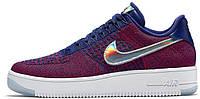 Женские кроссовки Nike Air Force 1 Ultra Flyknit Low USA (найк аир форс низкие) фиолетовые