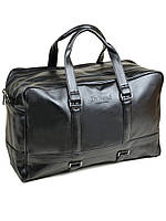 Мужская дорожная сумка черная на два отделения dr.Bond 98803 black