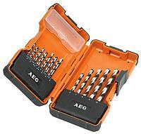 Набор оснастки AEG HSS-G DIN 338 19 предметов (4932352243)