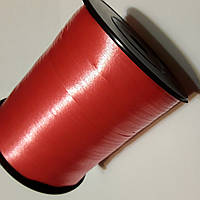 Лента Красная, тесьма для шариков - 5 мм 300м.
