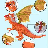 Игрушка динозавр интерактивный - ходит, звуковые и световые эффекты6653, Животные, фото 1