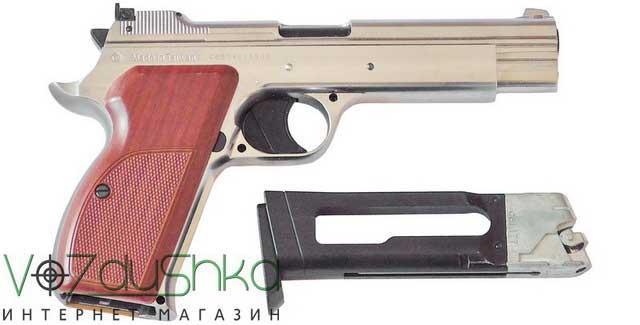 пистолет пневматический sas p210 silver blowback с магазином