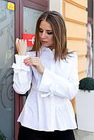 Рубашка женская белая свободного кроя