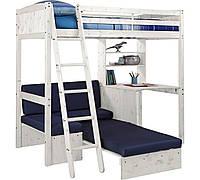 Детская кровать-чердак с рабочей зоной и местом для отдыха