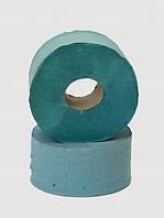 Бумага туалетная макулатурная на гильзе зеленая, 190х90 мм., Джамбо