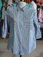 Рубашка женская котоновая в полоску
