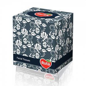 Салфетки бумажные в кубе 2-х слойные 80 шт/уп РУТА
