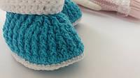 Пинетки для новорожденного голубые