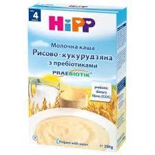 Hipp Молочна каша «Рисово-кукурудзяна» з пребіотиками 250 с 4 мес