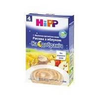 """Hipp Молочна органічна каша """"Рисова з яблуком"""" «На добраніч» 250"""