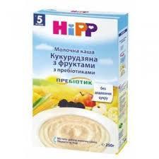 """2953 Hipp Молочна каша """"Кукурудзяна з фруктами"""" з пребіотиками 250"""