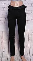 Женские черные джинсы c завышенной посадкой (код OK5003-A) 25-30 разм