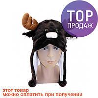 Шапка маска Олененок с рожками / Карнавальные головные уборы