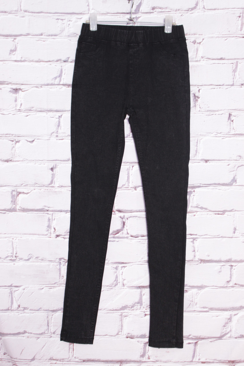 Женские  джинсы c завышенной посадкой и поясом на резинке Yimeite (код 8501) 25-30 размеры