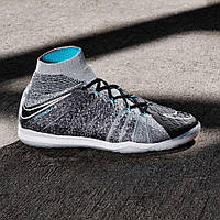 Сороконожки Nike HypervenomX Proximo II DF IC - Wolf Grey/Black/Chlorine Blue