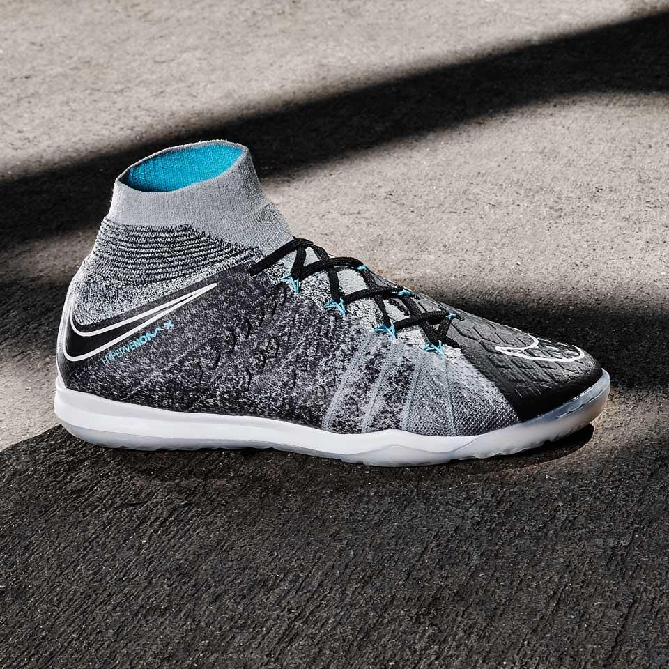 8660acb5 Сороконожки Nike HypervenomX Proximo II DF IC - Wolf Grey/Black/Chlorine  Blue