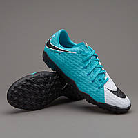 Сороконожки Nike Hypervenom Phelon III TF - White/Black/Photo Blue
