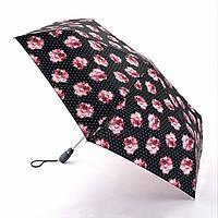Женский зонт Fulton Open & Close Superslim-2 L711 - Rosie Pin Spot (Розовые розы)