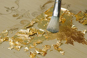 Сусальное золото и серебро, поталь, золоченая плитка и мозаика