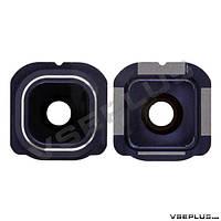 Стекло на камеру Samsung G925F Galaxy S6 Edge, синий
