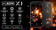 Защищенный смартфон AGM X1 Black/Gold 4/64gb ip68 Qualcomm Snapdragon 617 5400 мАч