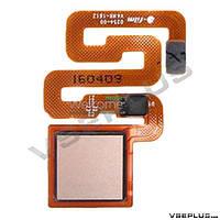 Шлейф Xiaomi Redmi 3S, золотой, с сканером отпечатка пальца