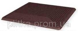 Плитка NATURAL BROWN DURO STOPNICE RYFLOWANE NAROZNE 30х30, фото 2
