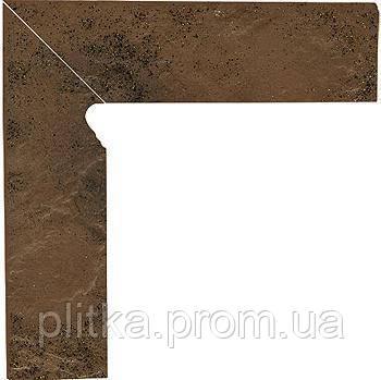 Плитка SEMIR BEIGE COKOL DWUELEMENTOWY SCHODOWY LEWY 8,1х30, фото 2
