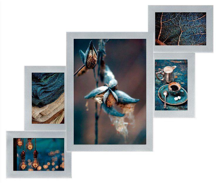 Настенная Мультирамка Лесенка-5 фото Серебро