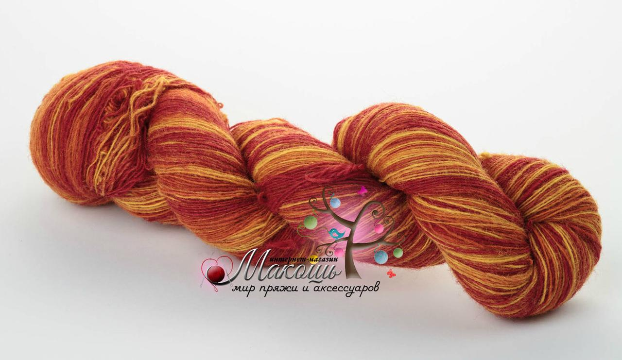 Пряжа Aade Long Kauni Artisric Yarn 8/1  Кауни Арстистик Ярн 8/1, огонь, цена за 100 грамм