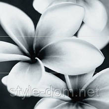 Плитка PRET-A-PORTER BLACK FLOWER COMPOSITION ПАННО (ИЗ 3ШТ) 750х750х10