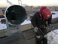Монтаж оцинкованных отводов. Киевская область