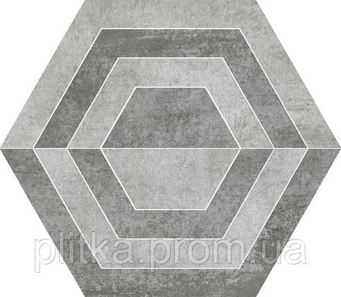 Плитка SCRATCH GRYS HEKSAGON A ДЕКОР 26х29,8, фото 2