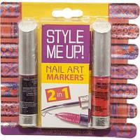 Набор Лаковая-карандашей для ногтей 2 в 1 Wooky Style Me Up (01601)