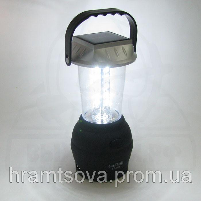 Кемпинговый динамо фонарь на солнечной панеле